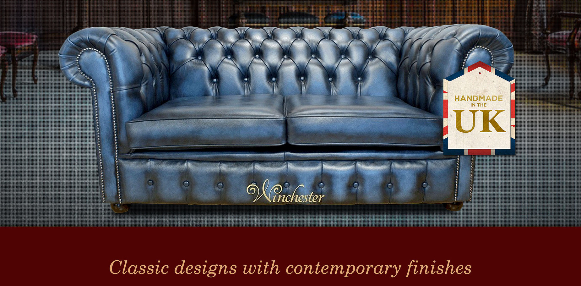 2 Seat Chesterfield Sofa