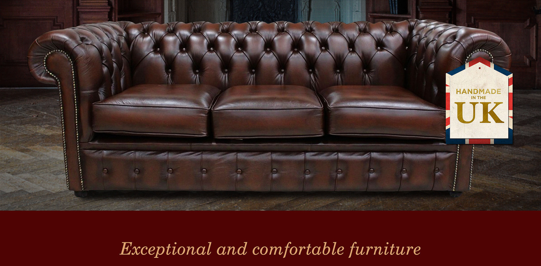 3 Seat Chesterfield Sofa