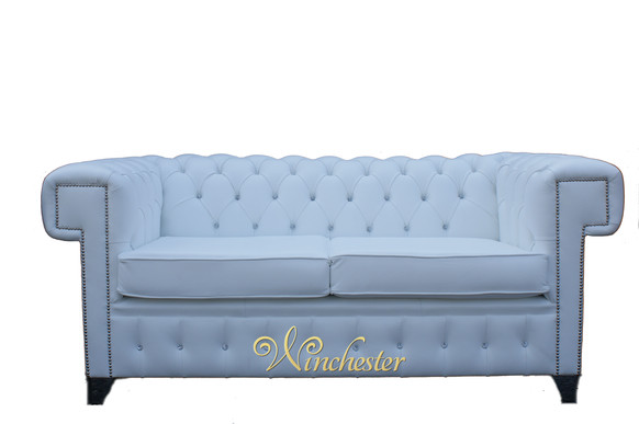 Stanley Chesterfield 2 Seater Swarovski CRYSTALLIZED™ Diamond Leather Furniture