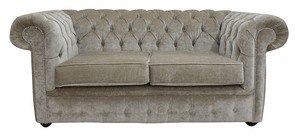 Chesterfield 2 Seater Settee Velluto Chiffon Fabric Sofa Offer