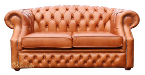 Chesterfield Buckingham 2 Seater Old English Tan Leather Sofa Offer