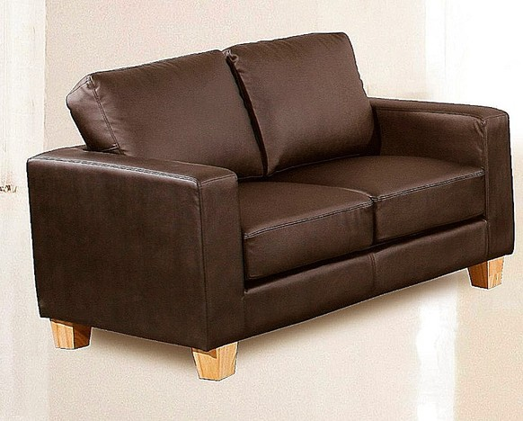 Chesterfield 2 Seater Sofa Faux Leather Available In Brown