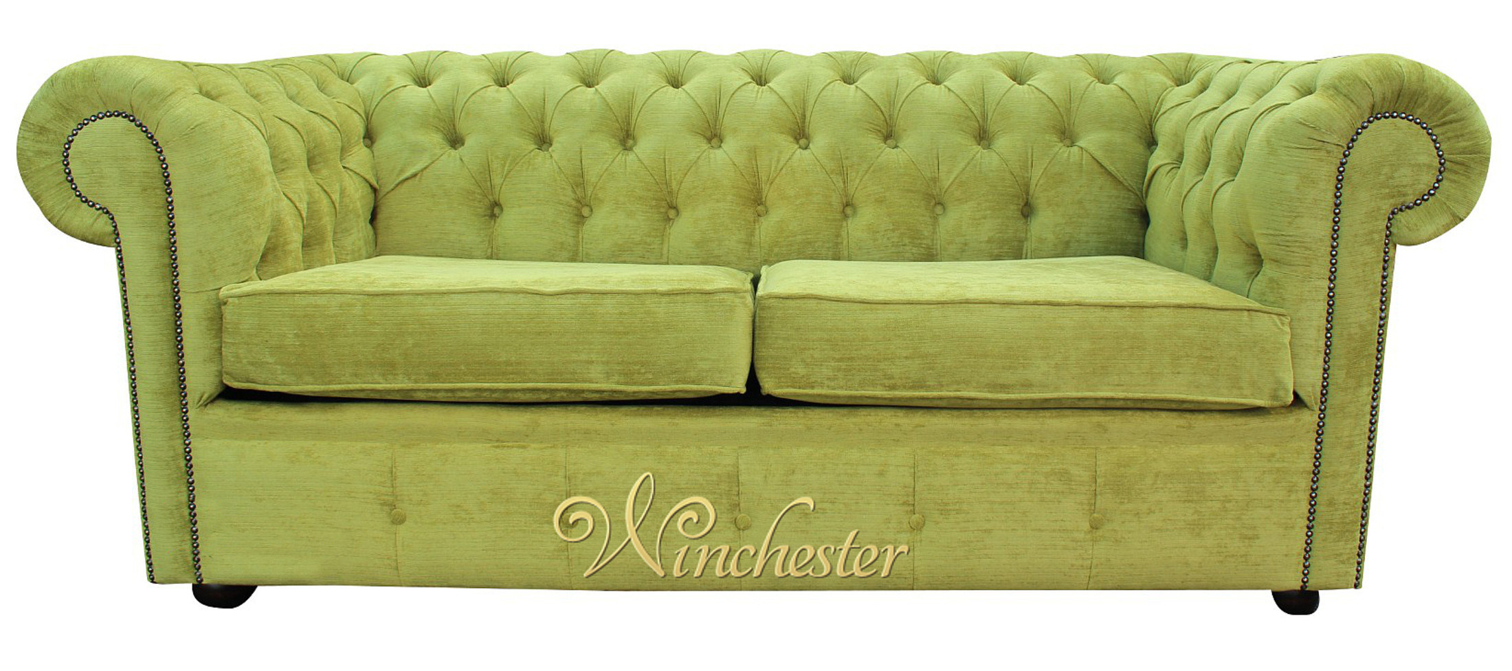 Chesterfield 2 Seater Sofa Olive Green Wc