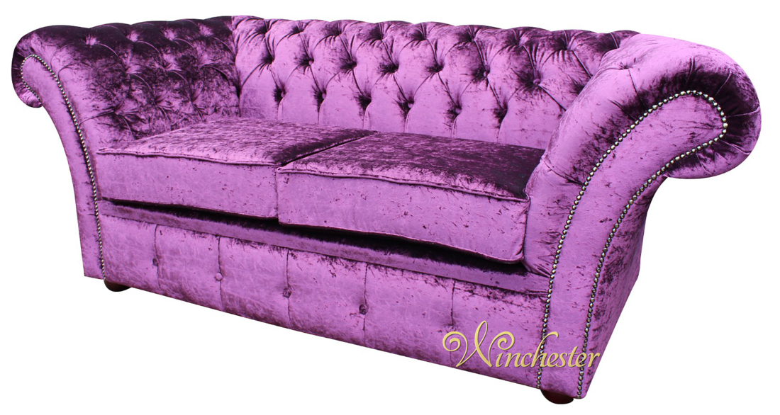 Chesterfield Balmoral Purple 2 Seater Sofa Settee Boutique