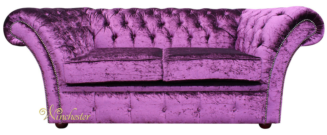 Chesterfield Balm 2 Seater Sofa Settee Boutique Purple