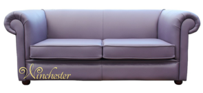 Chesterfield Berkeley 2 Seater Settee Amethyst Purple Leather Sofa