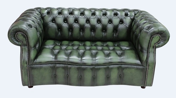 Chesterfield Darcy 2 Seater Antique Green Leather Sofa Offer