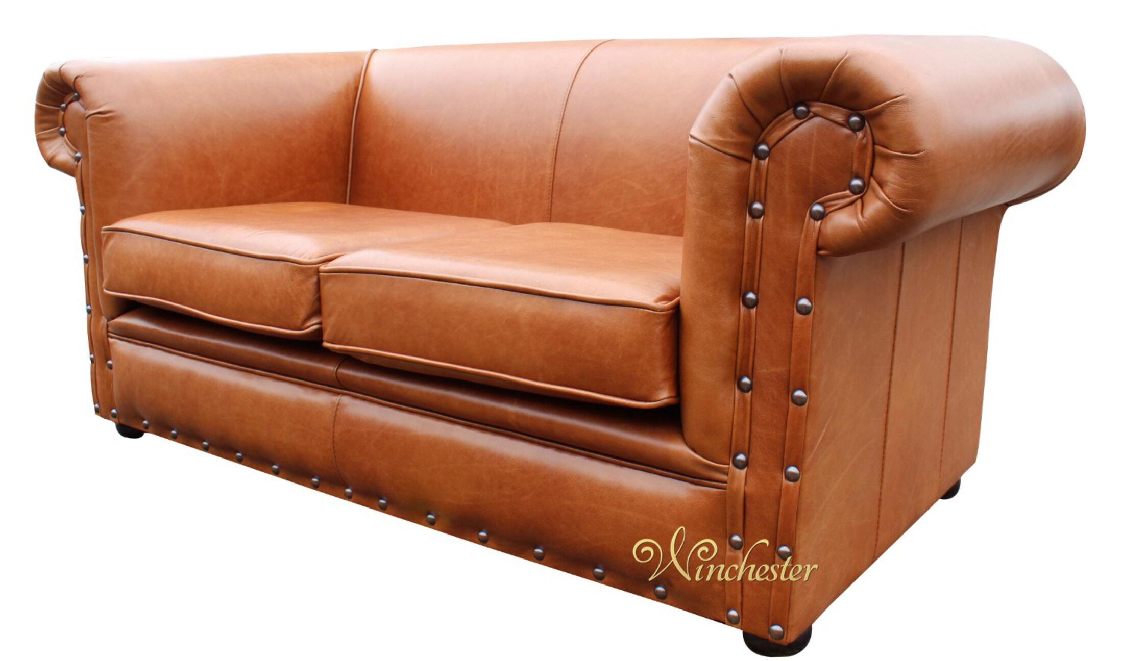 ... Chesterfield Decor Anile Saddle Leather Sofa Wc