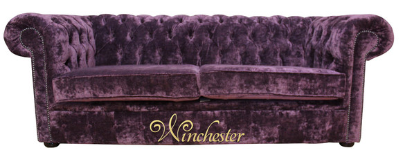 Chesterfield 2 Seater Settee Elegance Aubergine Velvet Sofa Offer