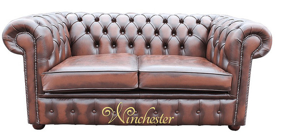 Chesterfield Holyrood 2 Seater Antique Brown Leather Sofa Offer