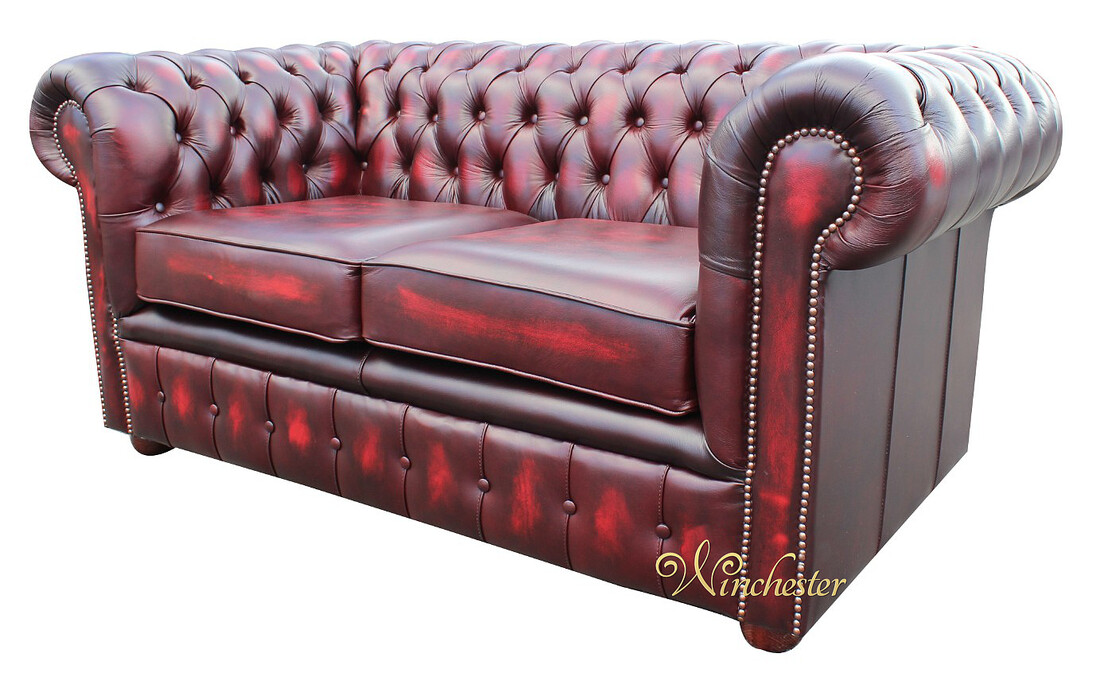Chesterfield London 2 Seater Oxblood Wc