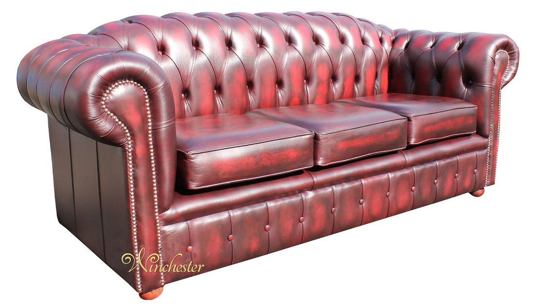 Oxblood Leather Sofa Red Leather Chesterfield Sofa Second