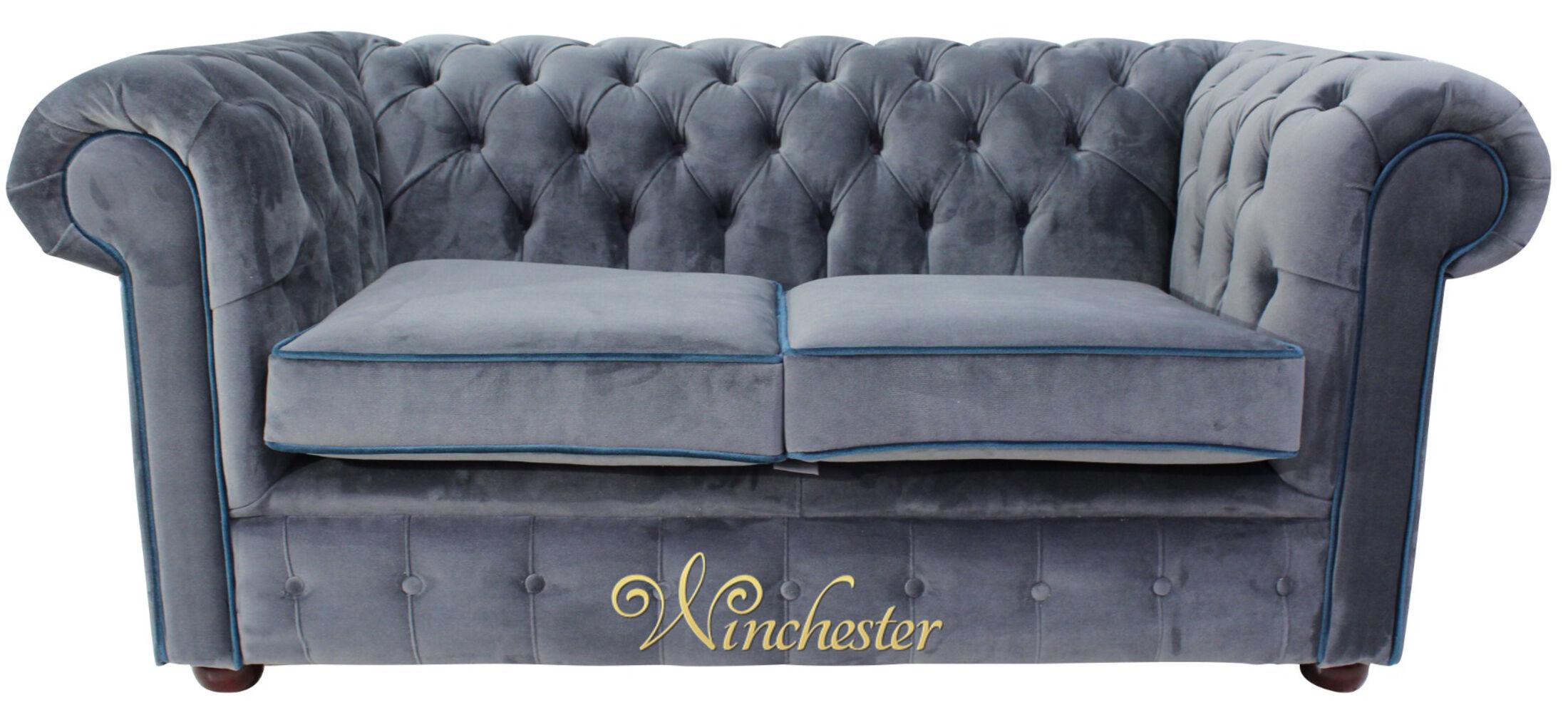Chesterfield Thomas 2 Seater Malta Grey Velvet Wc