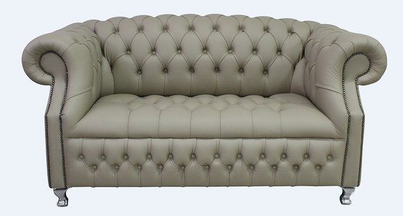 Chesterfield Windsor 2 Seater Pebble Leather Sofa Offer