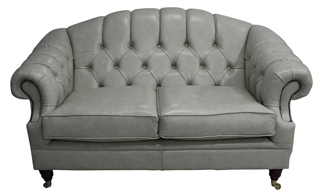 victoria 2 seater chesterfield leather sofa settee stella ice leather. Interior Design Ideas. Home Design Ideas