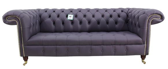 Chesterfield 1857 3 Seater Sofa Amethyst Purple Leather