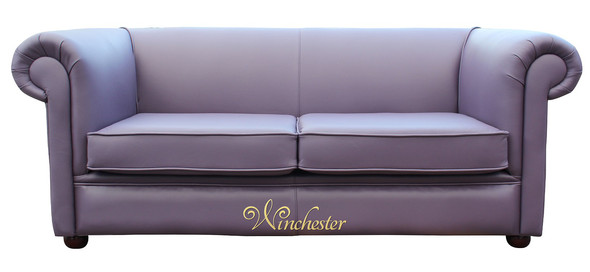 Chesterfield 1930's 2 Seater Settee Amethyst Purple Leather Sofa