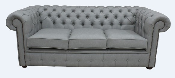 Chesterfield 3 Seater Infinity Shadow Faux Leather Sofa Offer