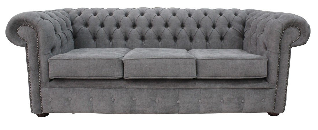 designersofas4u buy pewter fabric chesterfield sofa uk