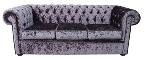 Chesterfield 3 Seater Settee Senso Fondant Velvet Sofa Offer