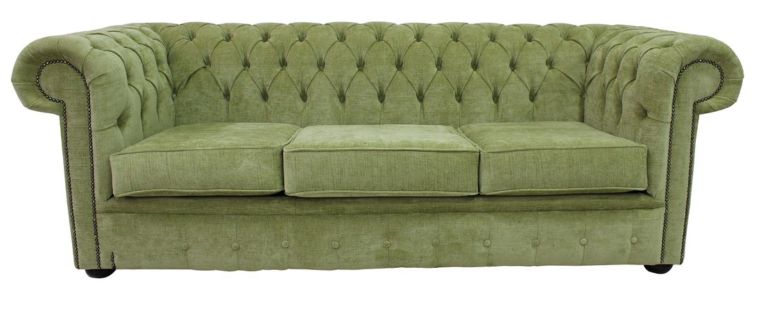 Green Fabric Sofas Chesterfield 2 Seater Settee Azzuro