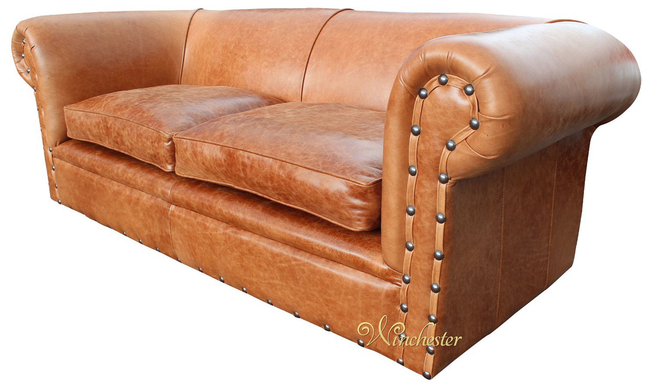 ... Chesterfield 3 Seater Sofa Settee Decor Saddle Wc ...