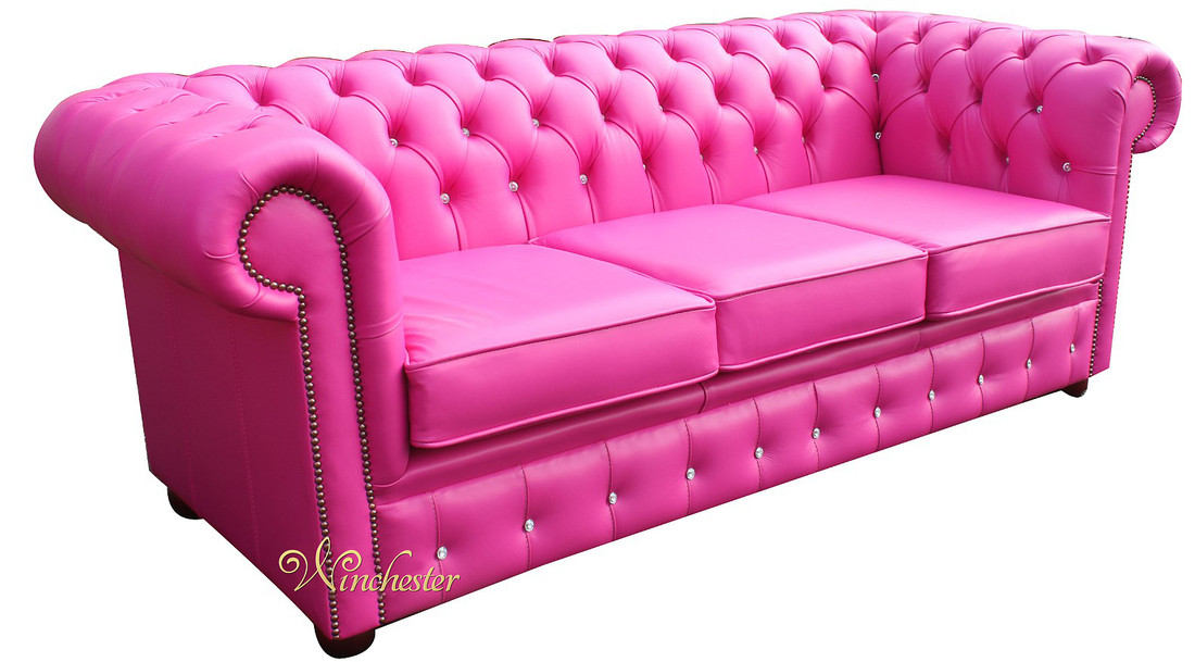 Chesterfield 3 Seater Swarovski Crystallized Diamond