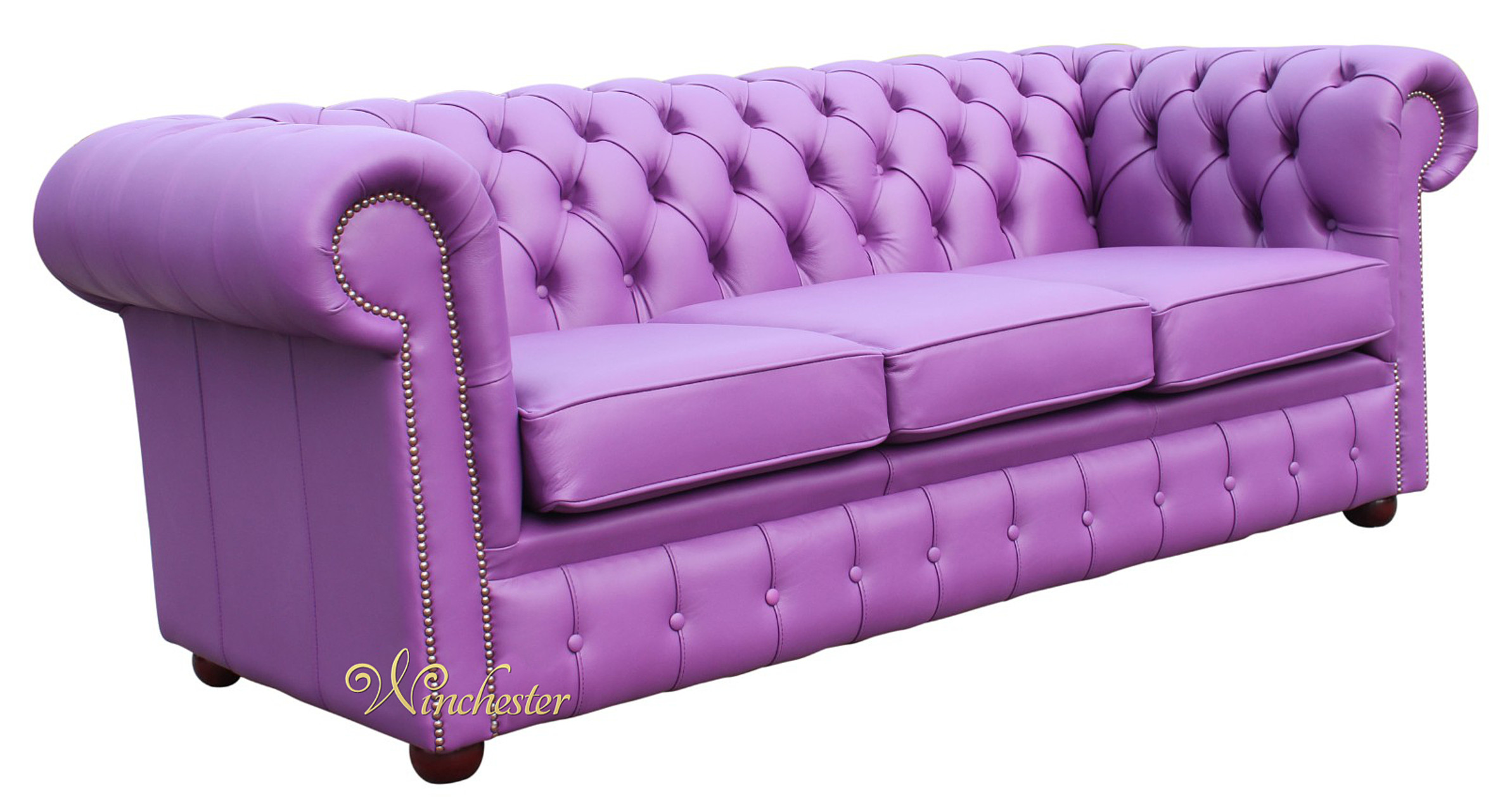 purple leather couch chesterfield 3 seater settee wineberry purple leather sofa 1690