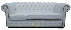 Chesterfield Swarovski CRYSTALLIZED™ Diamond White Leather Sofa Offer