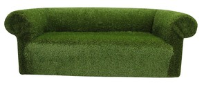 Chesterfield Artificial Grass 3 Seater Sofa Settee