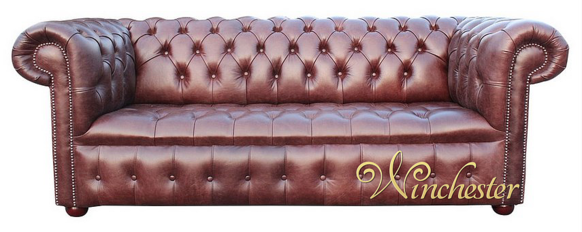 Chesterfield Belgravia 3 Seater Settee Buttoned Seat Old English Hazel Leather Sofa