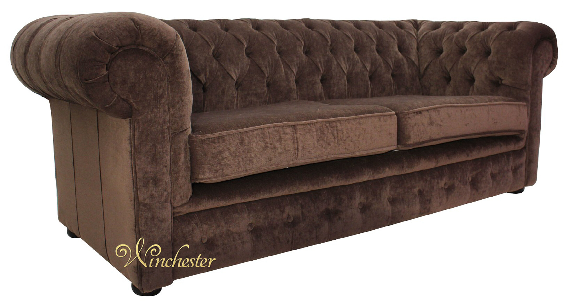 Chesterfield 3 Seater Settee Pimlico Chocolate Brown Sofa Offer