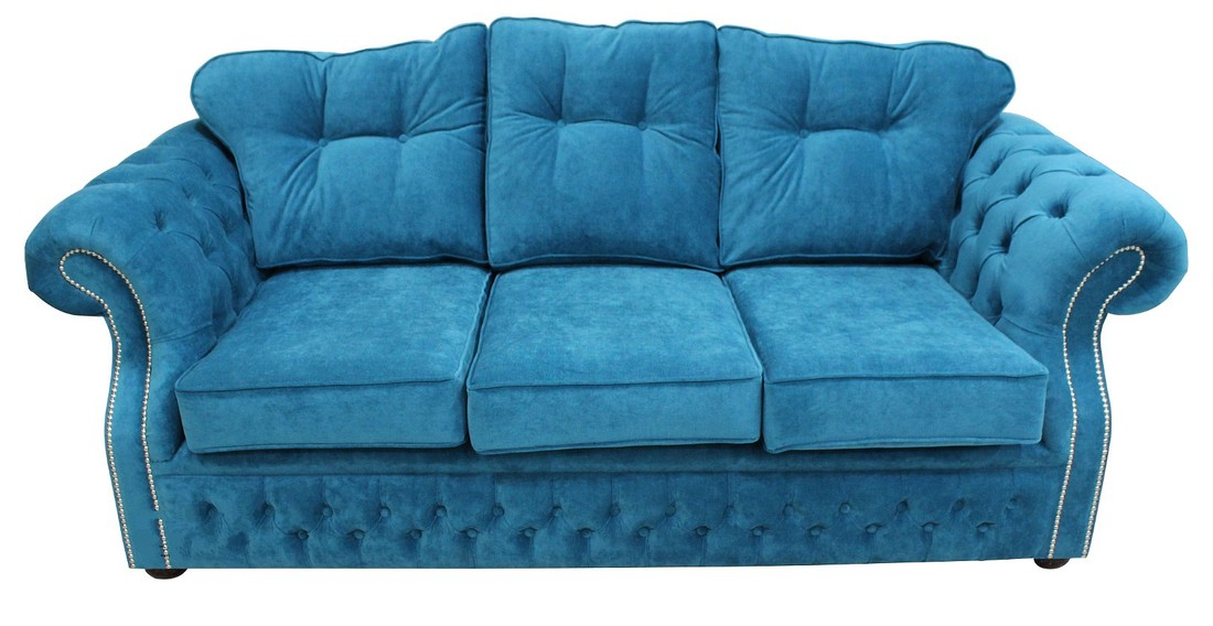 Buy Teal fabric Chesterfield sofa UK DesignerSofas4U