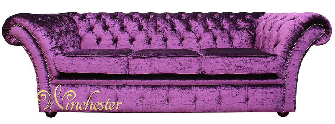 Chesterfield Grosvenor Purple 3 Seater Sofa Settee  : chesterfield grosvenor purple 3 seater sofa settee boutique crush velvet fabric wc colorbox from www.winchesterleather.com size 1100 x 407 jpeg 166kB