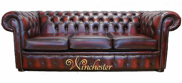 Chesterfield Holyrood 3 Seater Antique Oxblood Leather Sofa Offer