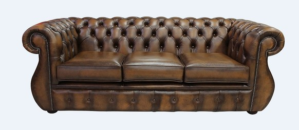 Chesterfield Kimberley 3 Seater Antique Tan Leather Sofa Offer