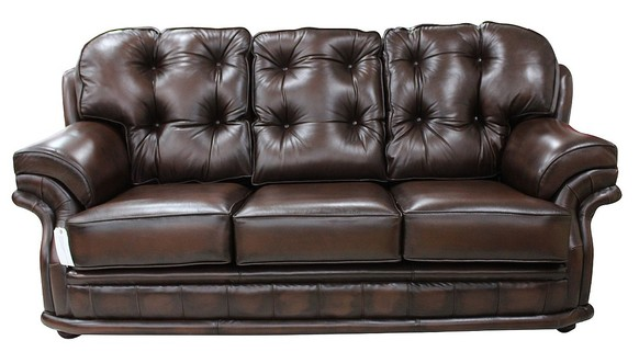 Chesterfield Knightsbridge 3 Seater Settee Traditional Chesterfield Sofa Antique Brown leather