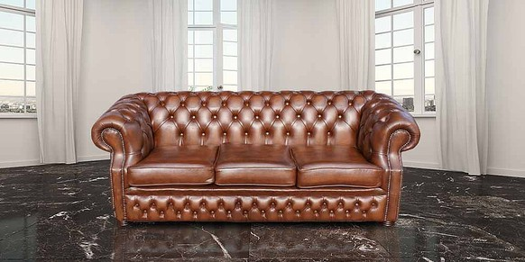 Chesterfield Richmond Grand 3 Seater Antique Tan Leather Sofa Settee Offer