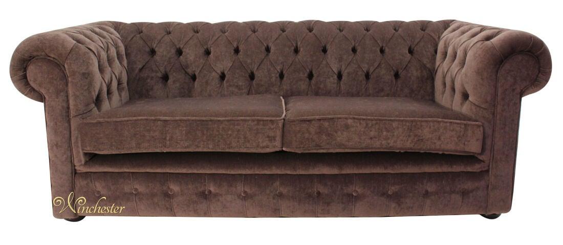 Chesterfield Thomas 3 Seater Sofa Settee Pimlico Chocolate