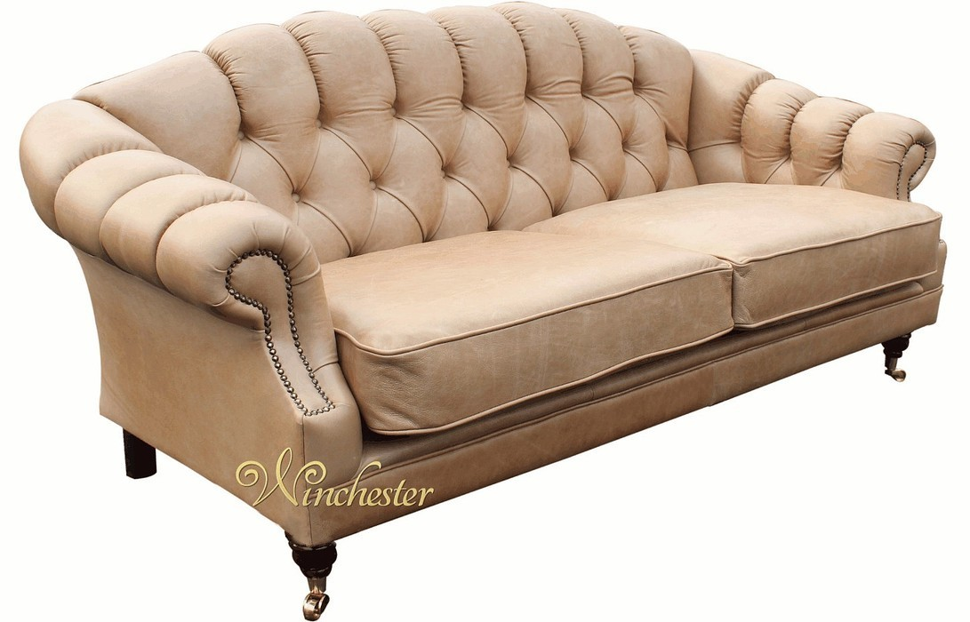 Victoria 3 seater chesterfield leather sofa settee old for Leather sofa 7 seater