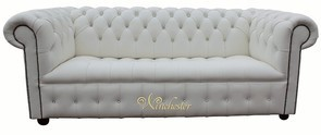 Chesterfield Swarovski CRYSTALLIZED™ Diamond Diamante Crystal White Leather Sofa Offer