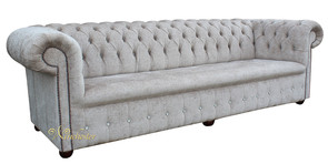Chesterfield 1780's Swarovski CRYSTALLIZED™ Diamond 4 Seater Presto Mink Sofa Offer