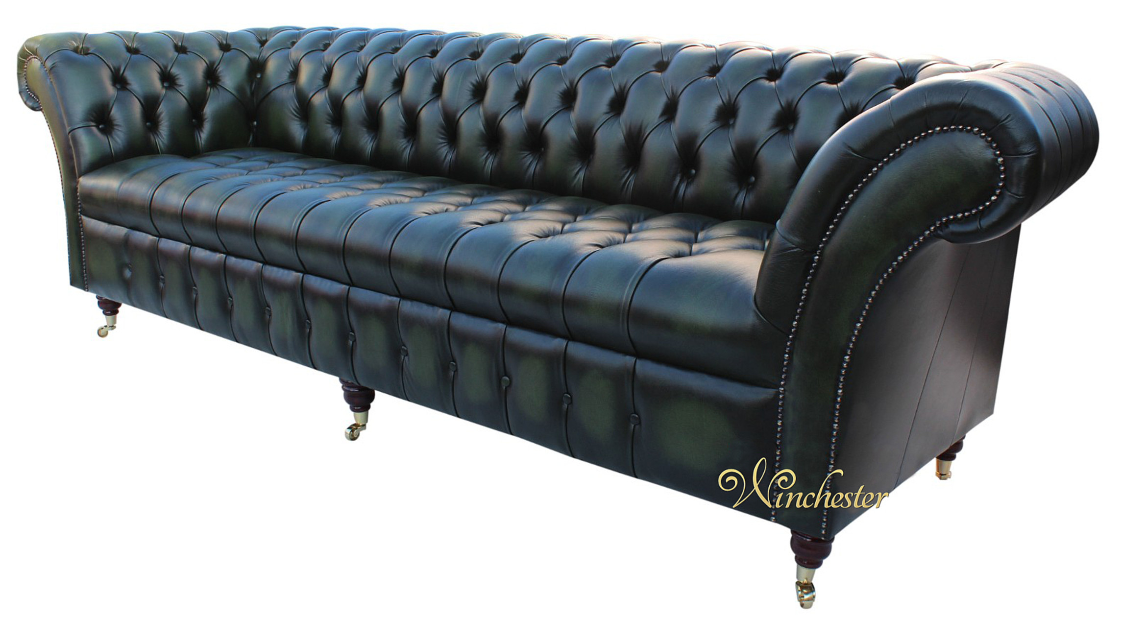 Chesterfield balmoral 4 seater sofa buttoned seat settee for Leather sofa 7 seater