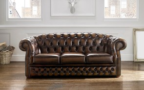 Chesterfield Buckingham Leather Sofa Antique Brown