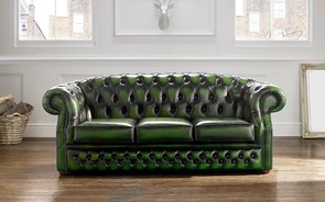 Chesterfield Buckingham Leather Sofa Antique Green