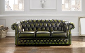 Chesterfield Buckingham Leather Sofa Antique Olive