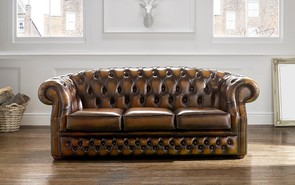 Chesterfield Buckingham Leather Sofa Antique Tan