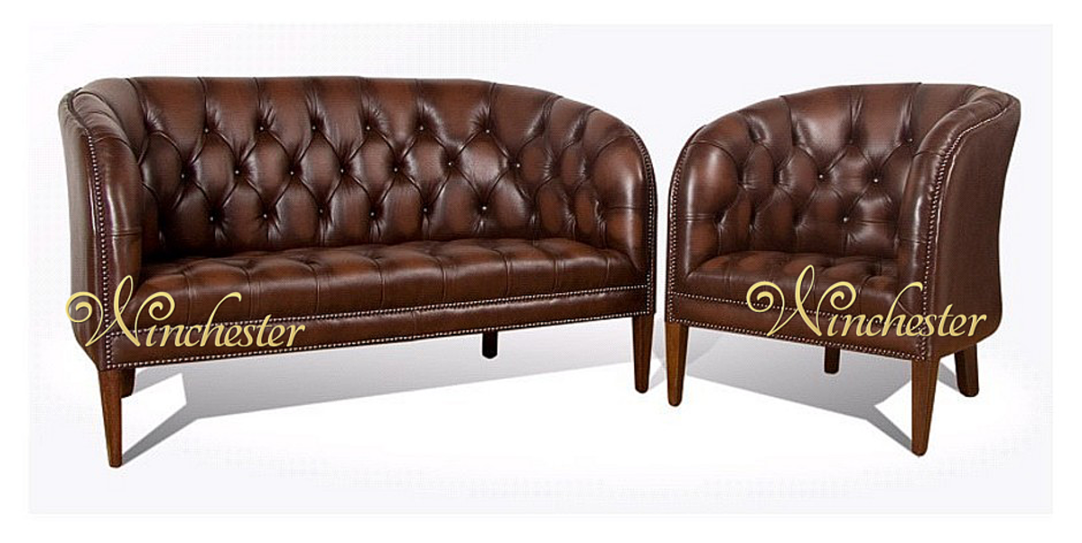 Chesterfield Burghley Low Back Tub Chair UK Manufactured Leather - Tub chairs leather