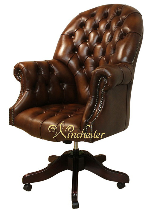 Chesterfield Oned Directors Leather Swivel Office Chair Wc