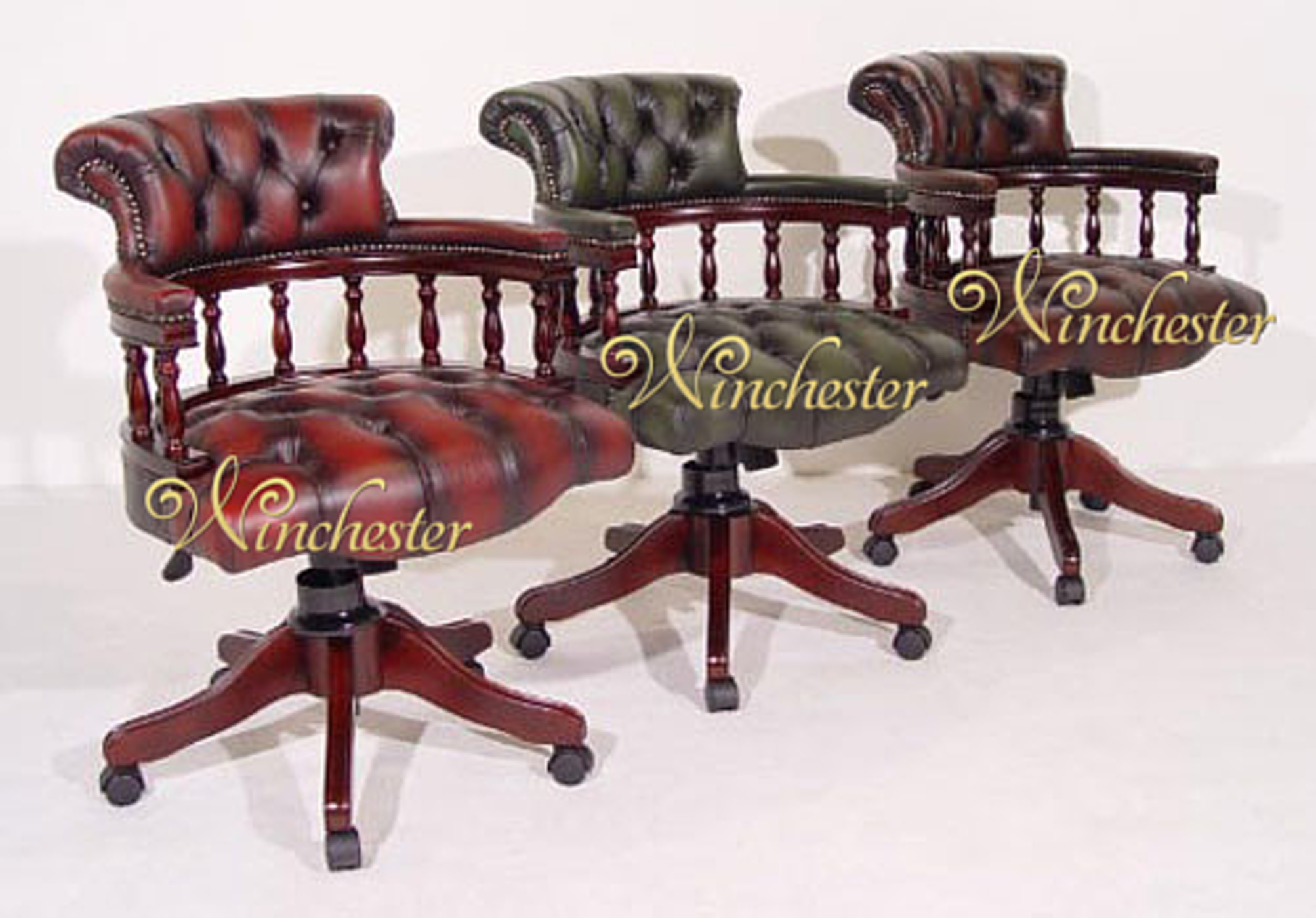 Captivating Chesterfield Captain Chair Antique Wc